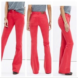 Madewell Flea Market Flare sz 26 Red PERFECT COND!